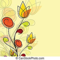 padrão, coloridos, abstratos, flor, primavera