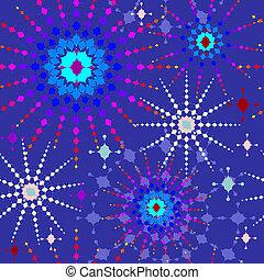 padrão, coloridos, estrelas, seamless