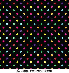 padrão, coloridos, ponto, vetorial, polca