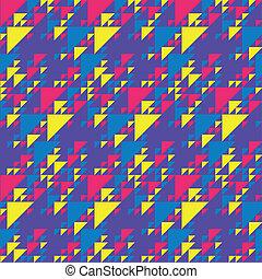 padrão, coloridos, triângulos