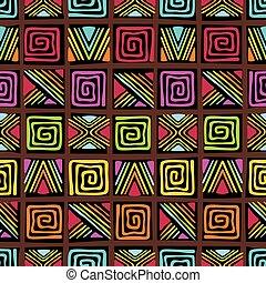 padrão, com, africano, ornamento