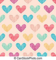 padrão coração, fundo, seamless