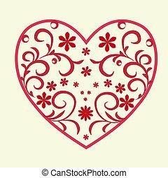 padrão coração