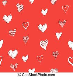 Padrão, corações, romanticos