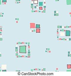 padrão, cubes., grunge, seamless