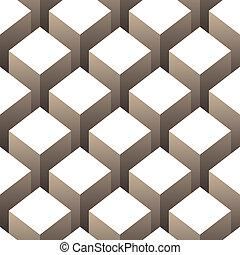 padrão, cubos, pilha, seamless