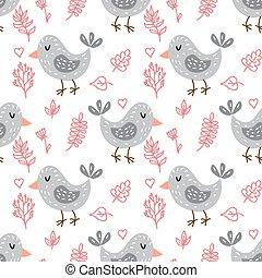 padrão, cute, seamless, corujas
