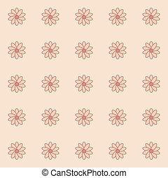 padrão, de, flor