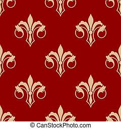 padrão, de, seamless, fleur, lis, floral