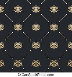 padrão, decoração, seamless