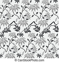 padrão, decorativo, floral
