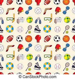 padrão, desporto, seamless, elemento
