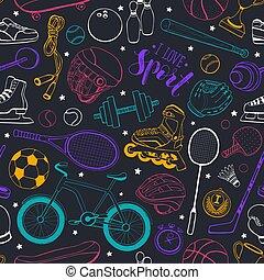 padrão, desporto, seamless