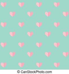 padrão, dia valentine, fundo, corações