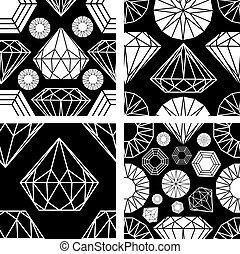 padrão, diamante, seamless