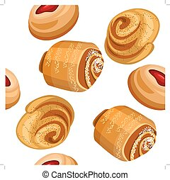 padrão, diferente, seamless, cakes.