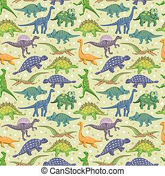 padrão, dinossauro, seamless