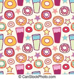 padrão, doce, donuts