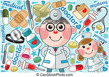 padrão, doutor médico