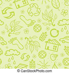 padrão, ecológico, seamless, fundo