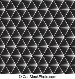 padrão, edges., côncavo, seamless, glowing, vetorial, ...