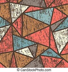 padrão, efeito, triangulo, madeira, seamless