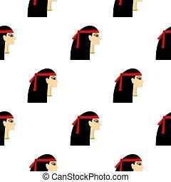 padrão, egípcio, seamless, princesa
