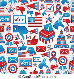 padrão, eleições, eua, ícones