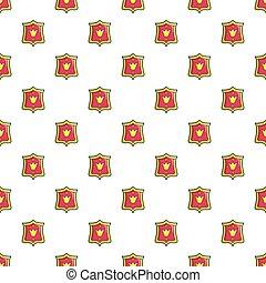 padrão, emblema, princesa, seamless