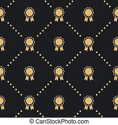 padrão, emblema, seamless, distinção