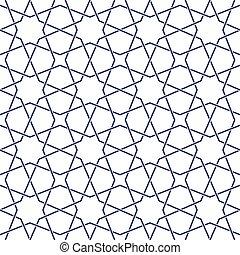 padrão, entrelaçado, oriental