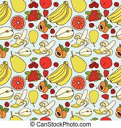padrão, esboço, fruta