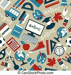 padrão, escola, seamless