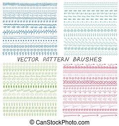 padrão, escovas