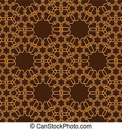 padrão, estilo, islamic