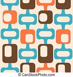 padrão, estilo, século, seamless, meio