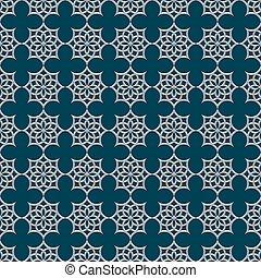 padrão, estilo, seamless, árabe, 3d