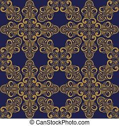 padrão, estilo, vetorial, seamless, oriental