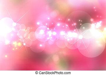 padrão, experiência blurry, luzes, cor-de-rosa
