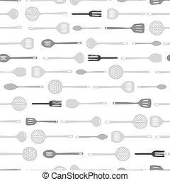 padrão, ferramentas, seamless, fundo, cozinha
