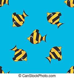 padrão, fishes., seamless, coloridos