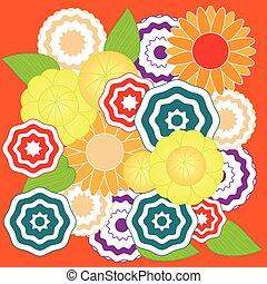 padrão, flor, springtime, coloridos