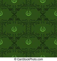 padrão floral, 01, seamless