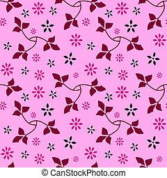 padrão floral, 09, seamless