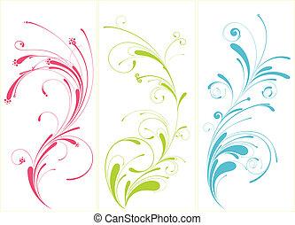 padrão floral, desenho