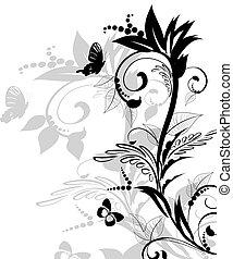 padrão, floral
