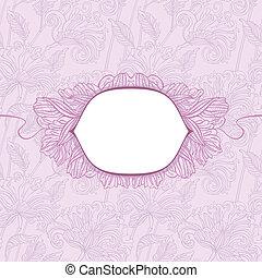 padrão floral, escudo