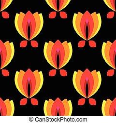 padrão floral, experiência preta, pétala