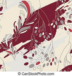 padrão floral, flores, seamless