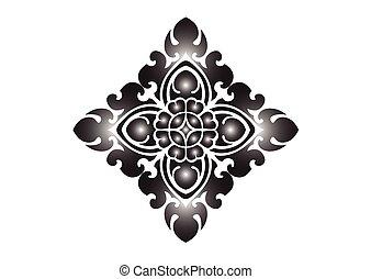 padrão floral, fundo branco
